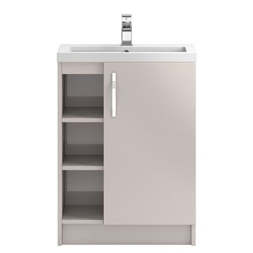Hudson Reed Cashmere Apollo Floor Standing 600mm Cabinet & Basin With 3 Shelves - APL776