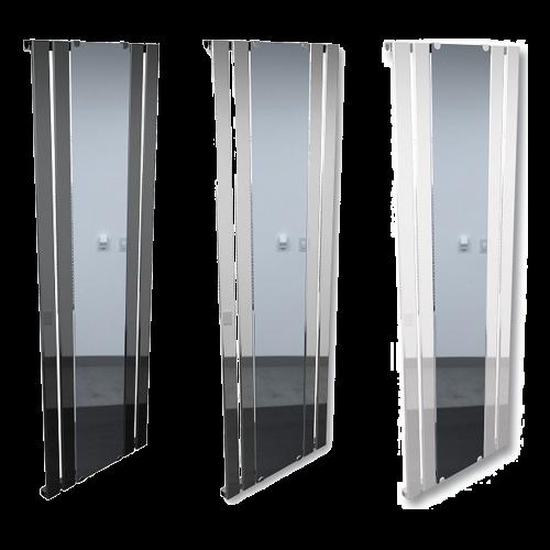 Synergy Attika Vertical Radiators with Mirror Anthracite/White/Chrome 600x1800
