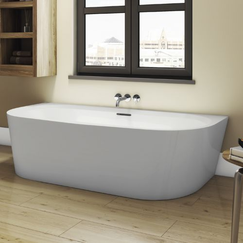 Freestanding Modern Back To Wall Bath 1800mm - Princeton By Voda Design