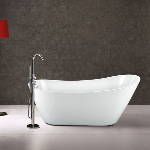 1660mm Matt White Modern Slipper Bath