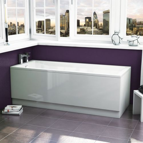 Straight Acrylic Bath - Zane 100 SE By Voda Design