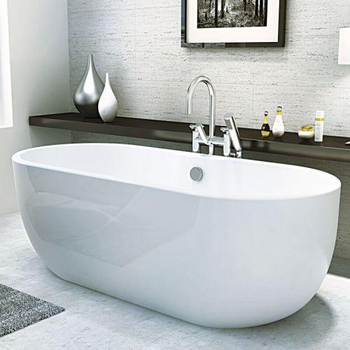 Matt White Freestanding Double Ended Bath 1655 x 750