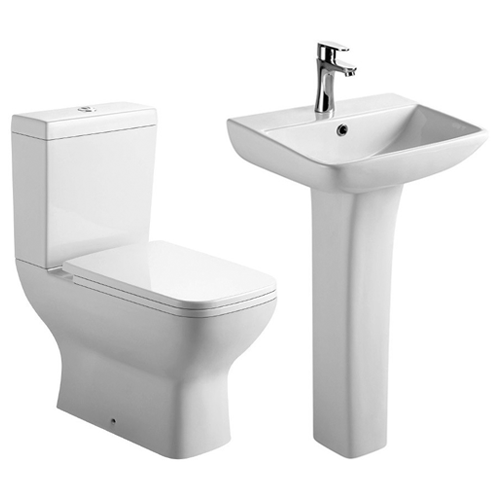 Synergy Bela Cloakroom Basin and Toilet Set