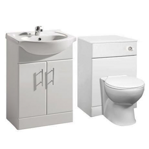 1150mm Blanco Furniture Run Inc Toilet and Vanity Basin