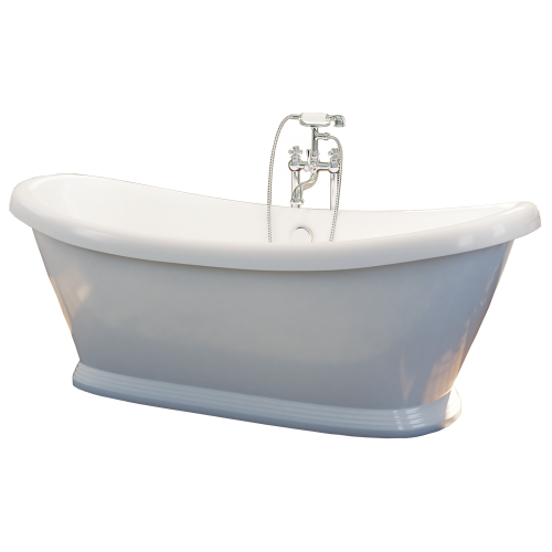 Freestanding Traditional Double Ended Bath 1770mm - Boat By Synergy