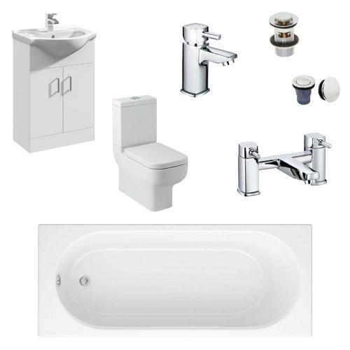 Complete Standard Bathroom Suite - Blanco