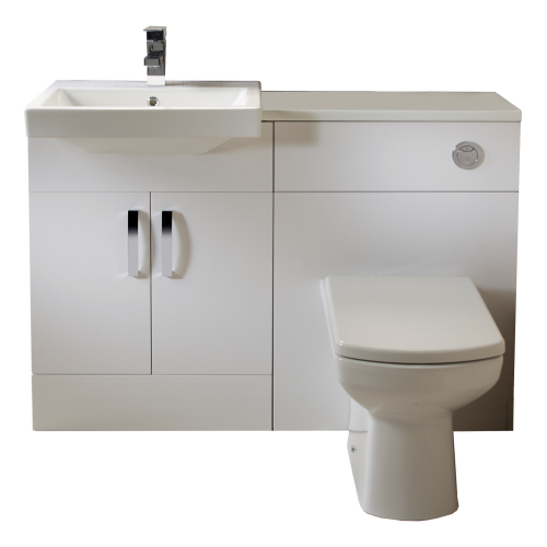 Tavistock Courier Bathroom 1200MM Furniture Run - Gloss White