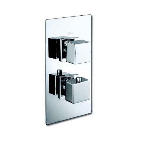 Thermostatic Square Shower Valve with Square Handles
