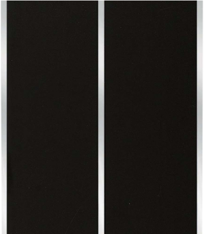 Black Ceiling & Wall Panel with Chrome Strip by Voda Design