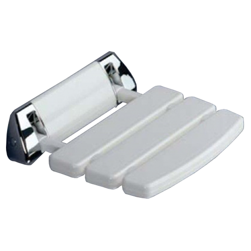 White Deluxe Hinged Shower Seat