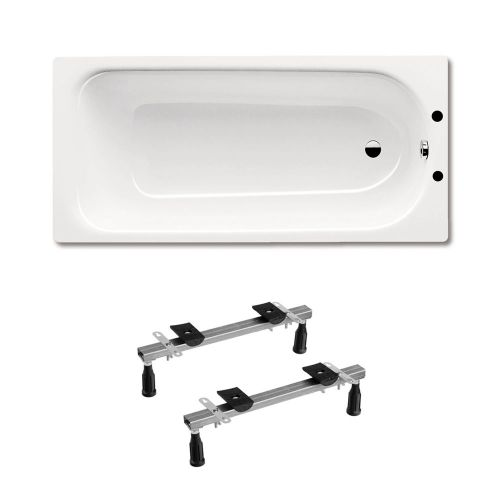 Kaldewei Eurowa 312 Steel Bath 1700 x 700mm 2 Tap Holes Inc Leg Set