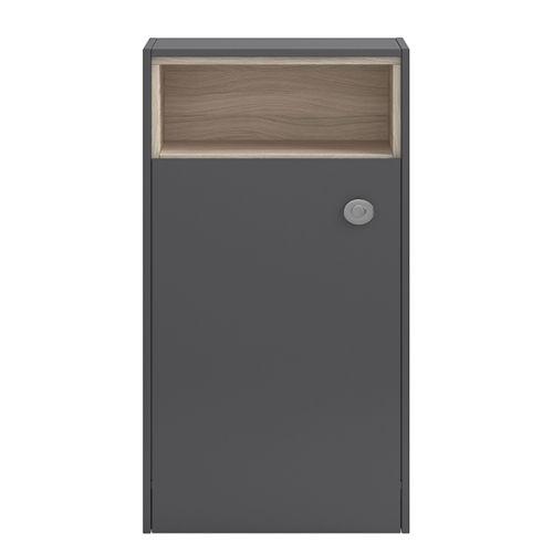 Hudson Reed Coast 600mm Open Shelf WC Unit - Grey FMC856