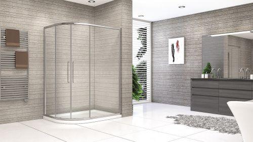 Synergy Vodas 8mm Framed Offset Quadrant Shower Enclosure