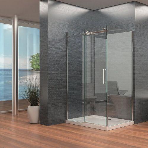 Frameless Single Sliding Shower Door - Kaso 8 by Voda Design (8mm Thick)