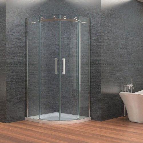 Frameless Quadrant Enclosure With Sliding Doors  - Kaso 8 by Voda Design (8mm Thick)