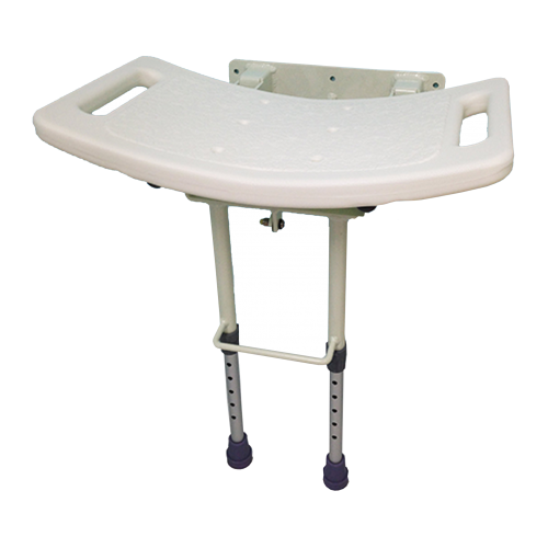 Hinged Shower Seat With Drop Down Leg