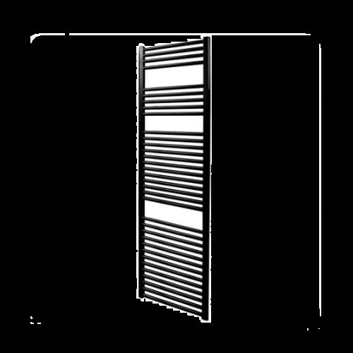 Straight Black Heated Ladder Rail - Aura by Voda Design