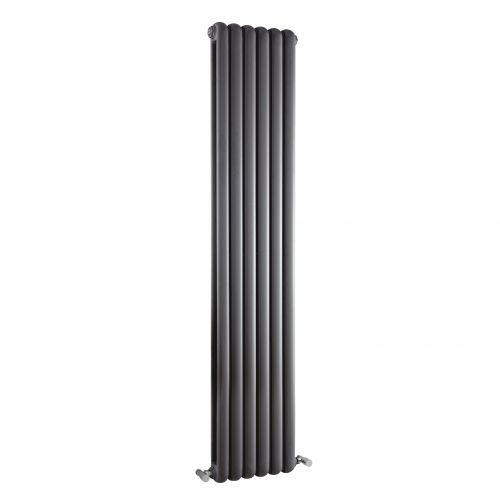 Hudson Reed Anthracite Salvia Double Panel Designer Radiator H1800 x W383 mm HSA005