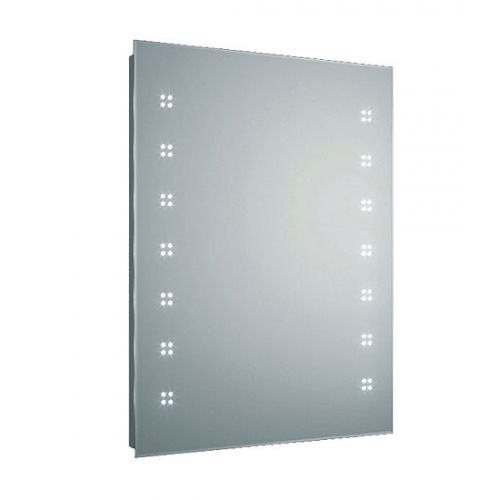 Hudson Reed Lucid LED mirror with shaving socket, demister pad and motion sensor technology H800 x W600 x D65 mm LQ365