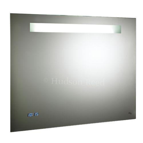 Hudson Reed Vizor Motion Sensor Mirror With Shaving Socket, Digital Clock & De-mister Pad H650 x W800 x D45 mm LQ042