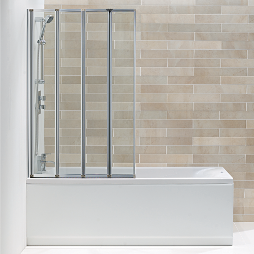 Hydro 4 Panel Folding Bath Screen