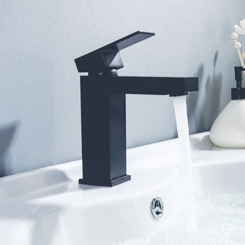 Douglas Black Mini Mono Basin Mixer - By Voda Design