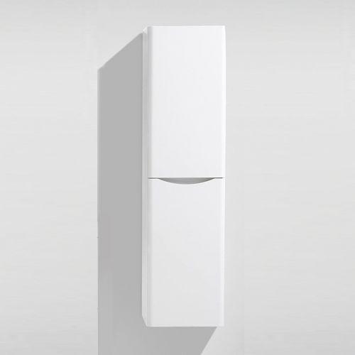 White Gloss 400mm Wall Hung Storage Unit - Maddox By Voda Design