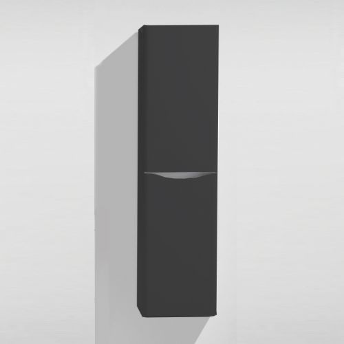 Grey Matt 400mm Wall Hung Storage Unit - Maddox By Voda Design