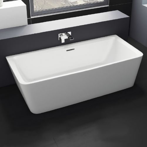 Freestanding Modern Back To Wall Bath 1800mm - Corrine By Voda Design