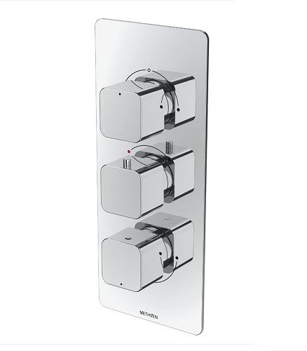 Methven Kiri Thermostatic Mixer Valve (3 Controls With 2 Outlets)
