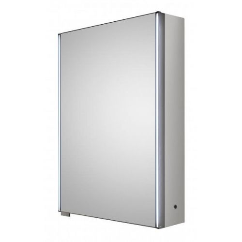 Hudson Reed Meloso LED motion sensor mirror cabinet with shaver socket H700 x W500 x D140 mm LQ093