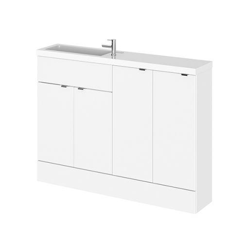 Hudson Reed Gloss White Fusion Slimline Combination Furniture 1200mm CBI125