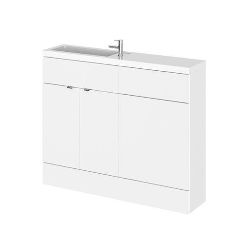 Hudson Reed Gloss White Fusion Gloss Slimline Combination Furniture 1100mm (inc WC unit) CBI101