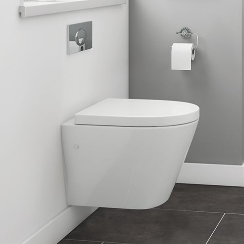 Marbella Wall Hung Toilet With Soft Close Seat By Synergy
