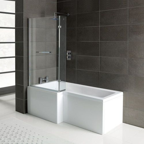 Trojan Elite 1675mm L Shape Shower Bath - Made In UK, With Screen & Bath Panel