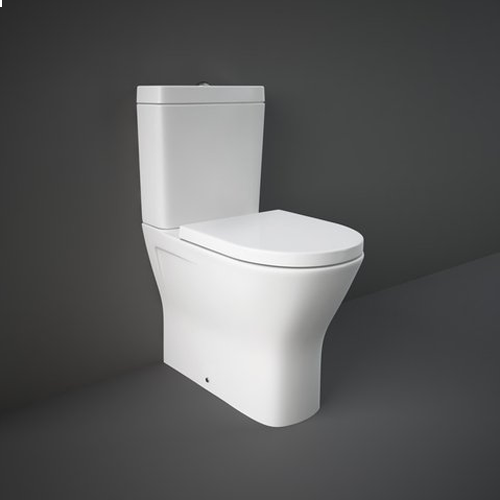 RAK Resort Maxi Close Coupled Fully Back to Wall WC Pan, Cistern and Soft Close Seat