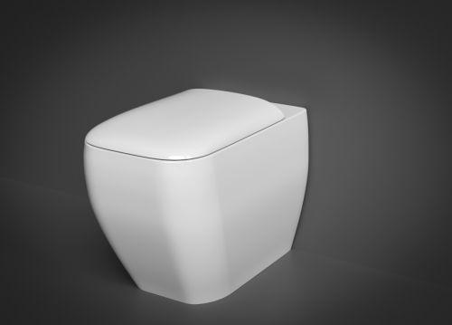 RAK Metropolitan Back to Wall Pan with Soft Close Seat (Urea)