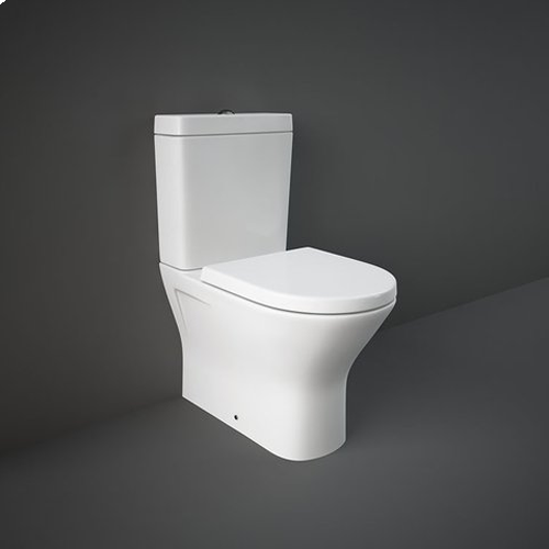 RAK Resort Mini Close Coupled Fully Back to Wall WC Pan, Cistern and Soft Close Seat