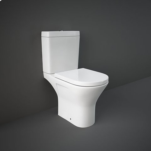 RAK Resort Mini Close Coupled Full Access WC Pan, Cistern and Soft Close Seat