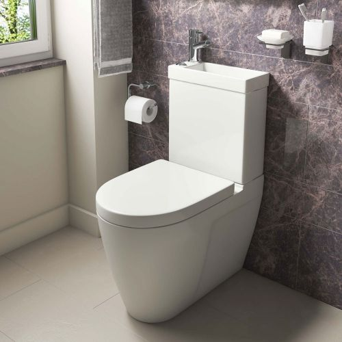 Cloakroom Toilet & Basin Combination Unit - 2 in 1