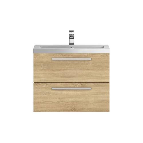 Hudson Reed Quartet Natural Oak 720 mm Cabinet & Basin - QUA008