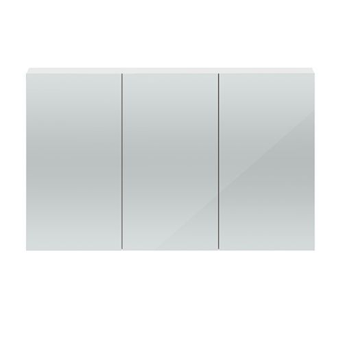 Hudson Reed Gloss White Quartet 1350mm Wall Hung Mirror Cabinet - QUA009