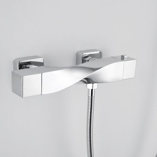 RAK Ceramics Reserva Wall Mounted Thermostatic Bath Shower Mixer Tap with Slider Rail Kit and Handset