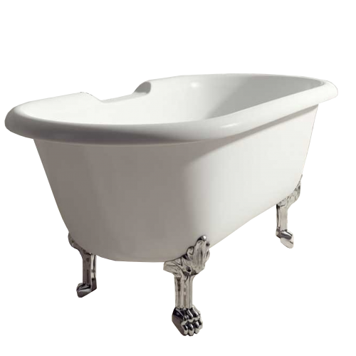 Voda Design Mia Solid Surface Stonecast Traditional Bath 1700mm