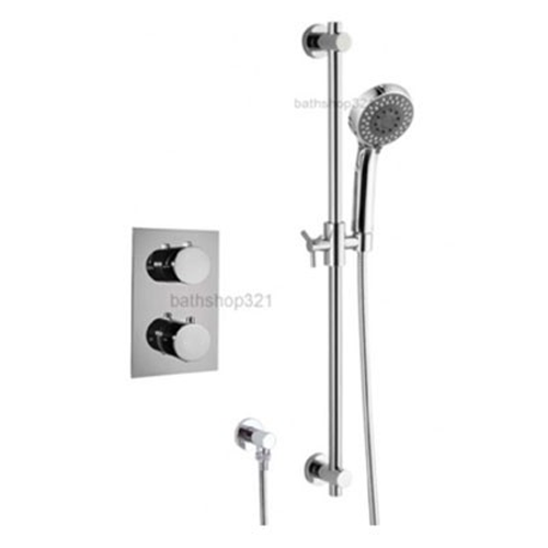 Round Thermostatic Shower Set with Adjustable Rail