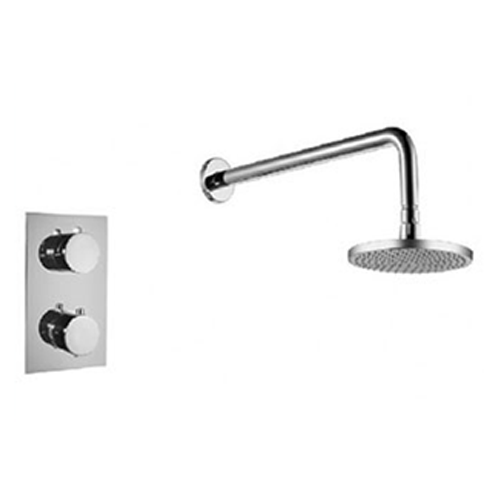 Round Thermostatic Shower Valve with 200mm Head