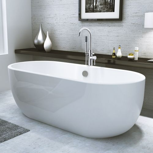 Freestanding Modern Double Ended Bath - Manhattan by Voda Design.