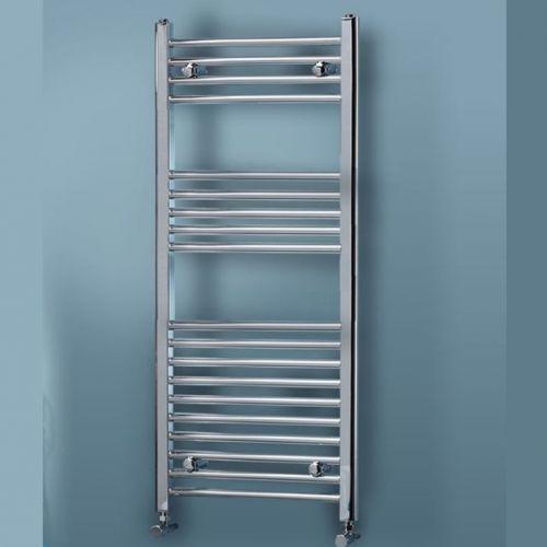 Chrome Straight Heated Towel Rail - 700mm Width