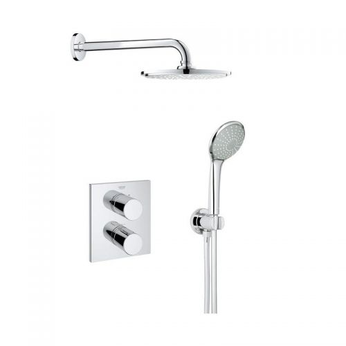 Grohtherm 3000 Mixer Shower with Rainshower Head - Cosmopolitan Perfect shower set 210