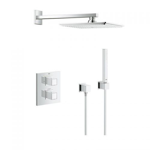 Grohtherm Cube Mixer Shower with Rainshower - Allure 230 Perfect shower set